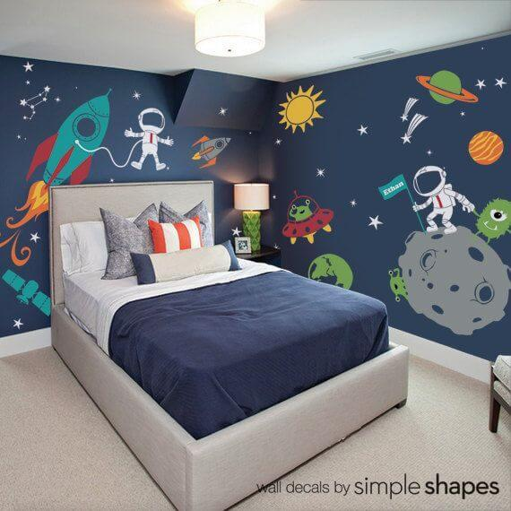 Ideas For Outer Space Themed Bedroom For Your Kids - Interior Fun