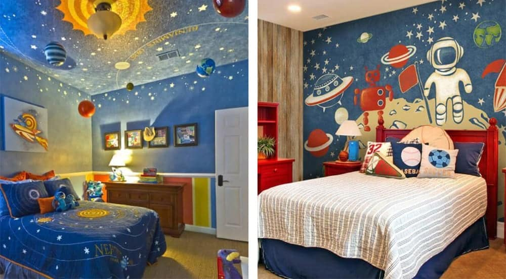 Decorate Your Kid S Bedroom With Space Theme Interior Fun
