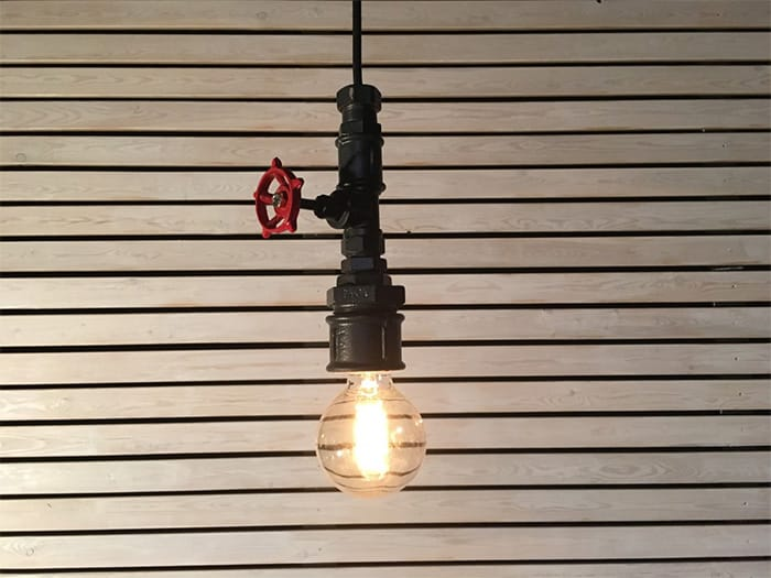 How to Bring Industrial Chic Into Your Home - industrial chic lamp