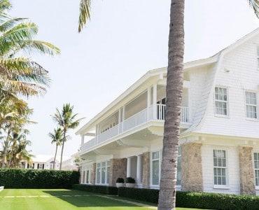 White Modern Farmhouse Style House
