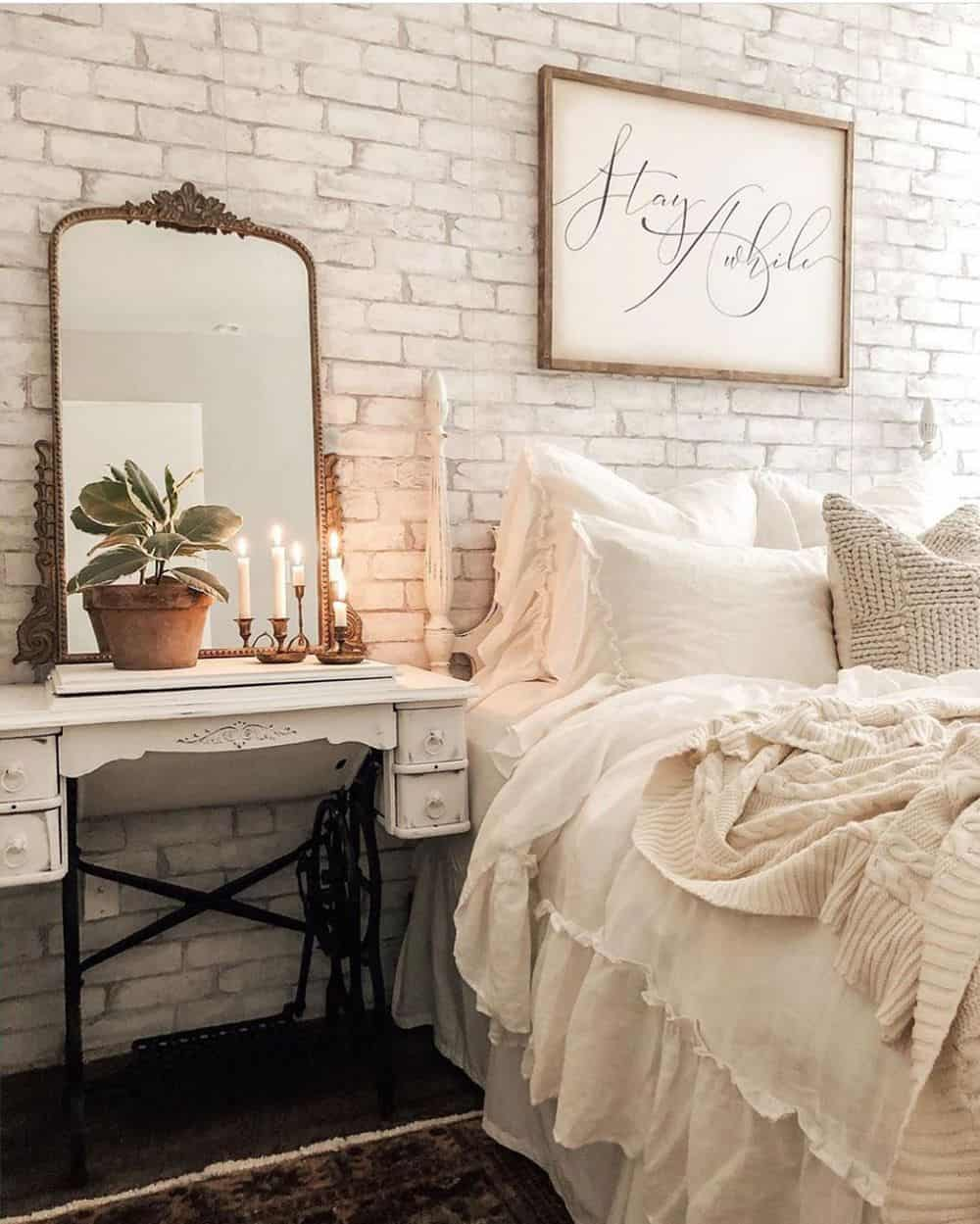 Cool Bedroom Ideas for the Ultimate Comfort - Brick Accent Walls