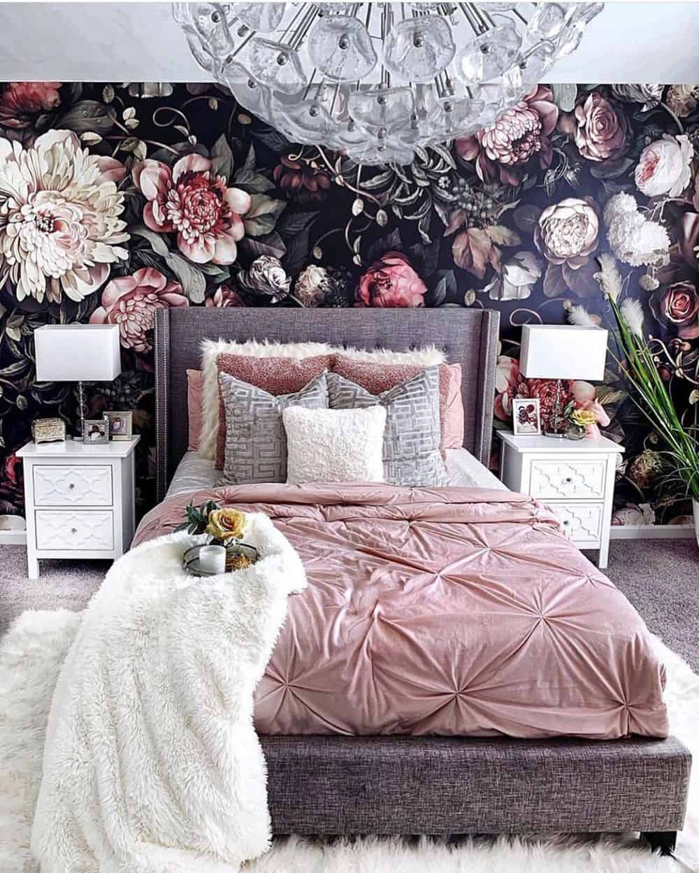 Cool Bedroom Ideas for the Ultimate Comfort - Wallpaper or Wall Print
