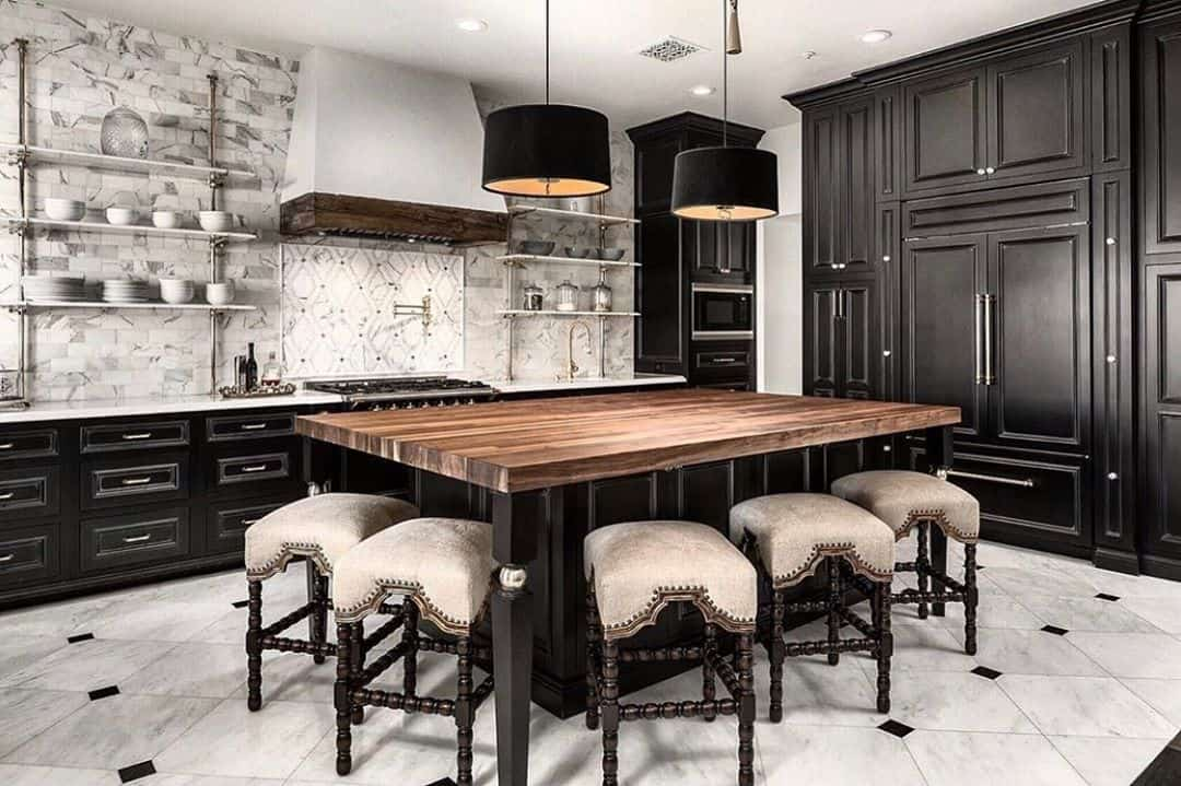 Timeless Kitchen Designs You Will Fall in Love With - Huge Dining Table