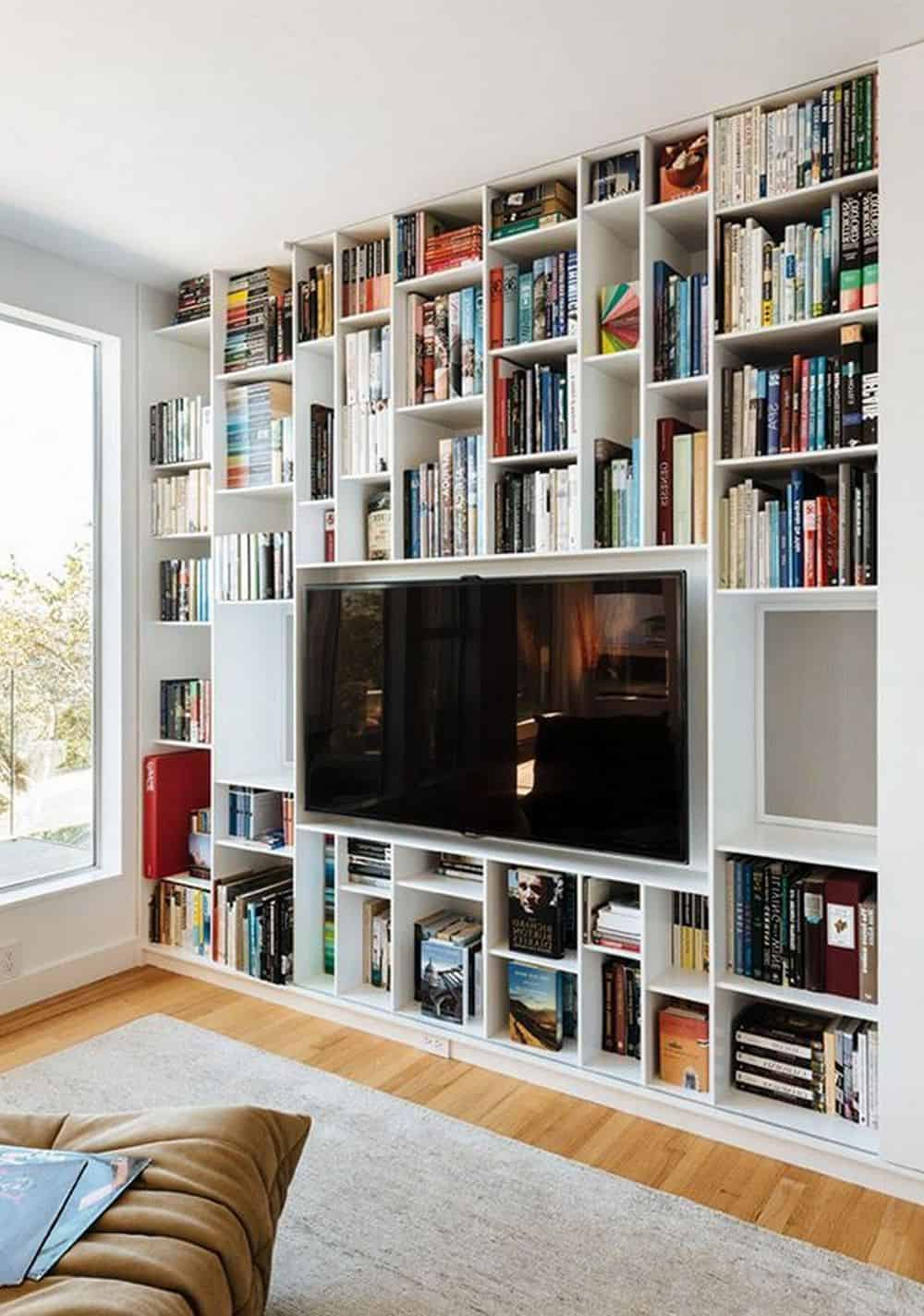 Top 6 Ideas To Decorate Your TV Wall - Add Up A Library Set-Up