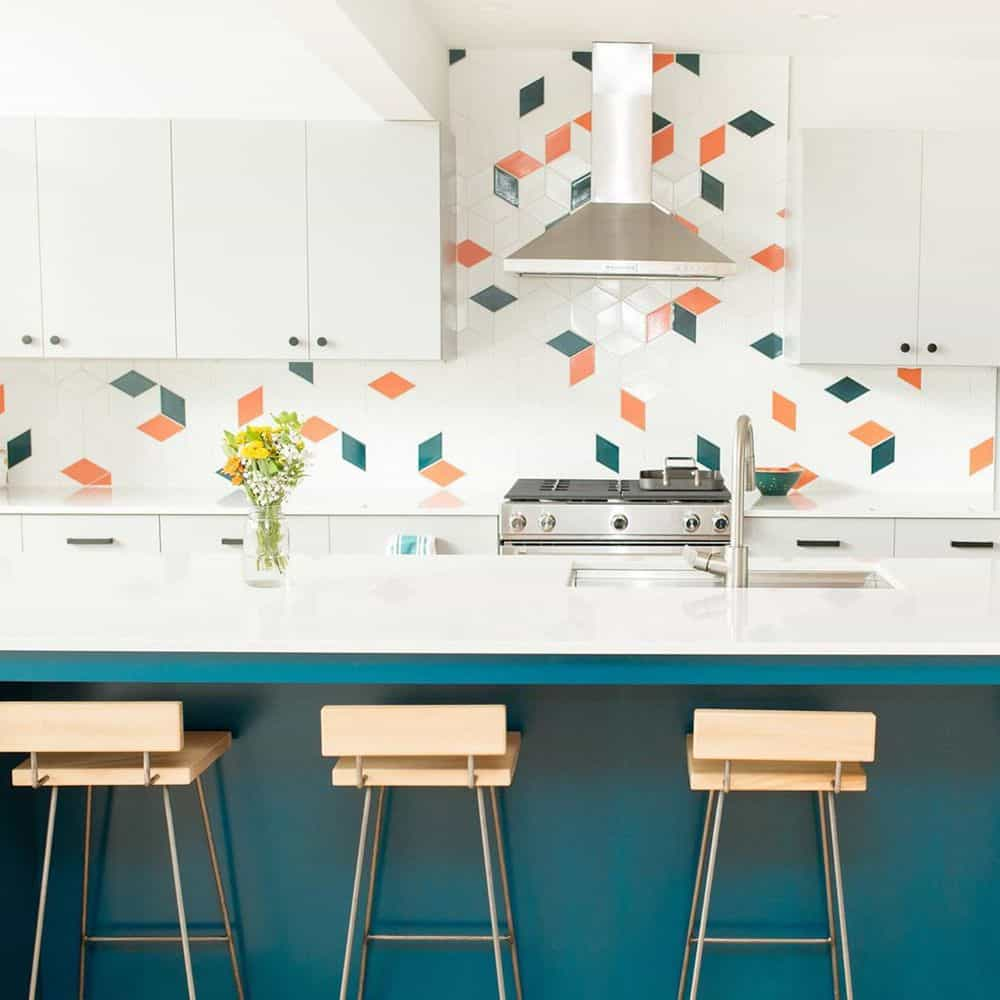 Tile Ideas That You Can Use For Your Home Decor - Colored tiles