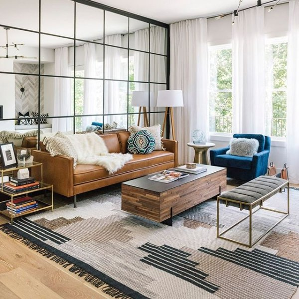 How To Make Your Living Room Look Bright - Adding Mirrors