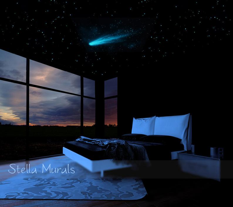 Space Themed Bedroom - Glow in the dark ceiling