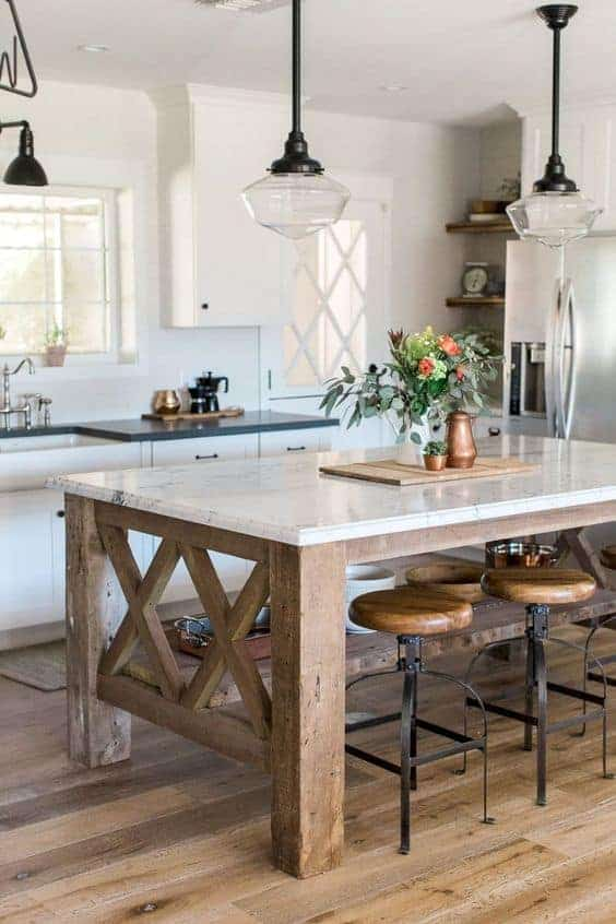 Great Kitchen Island Ideas For Your Inspiration - Rustic Island