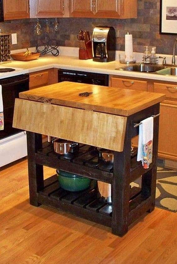 Great Kitchen Island Ideas For Your Inspiration - Extra Leaf Option