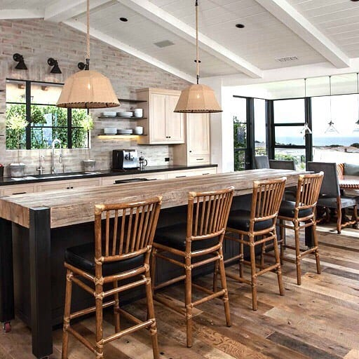 What Is Transitional Style - Mix elements such as glass, wood, rattan, lacquer, metal, steel, and fabric