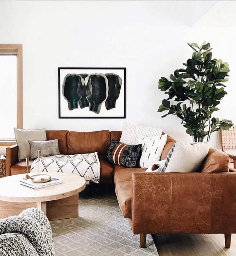 scandinavian nordic interior design with furniture and architecture - Negative Space