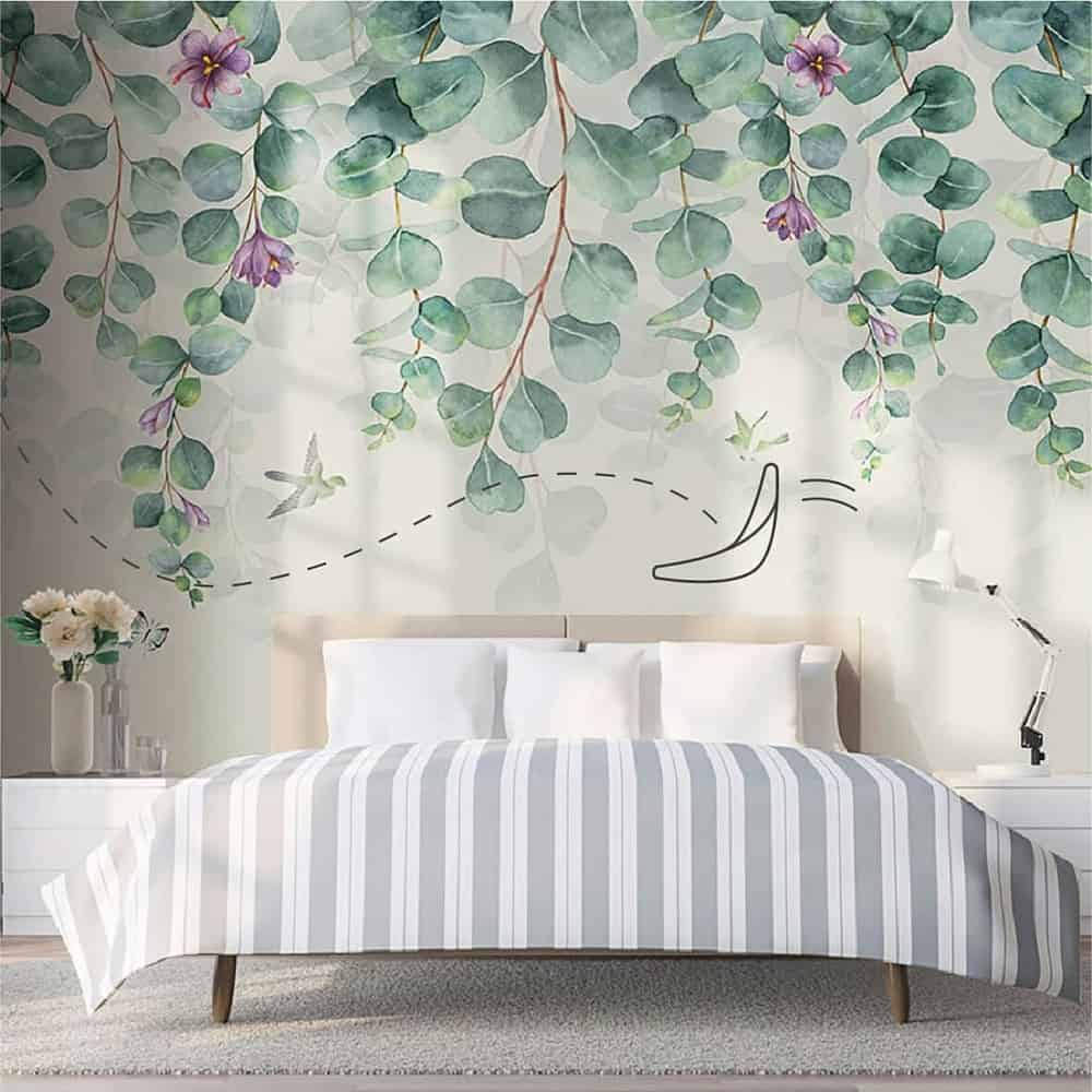 65 Amazing Small Bedroom Ideas to Create Space - Painting on The Wall