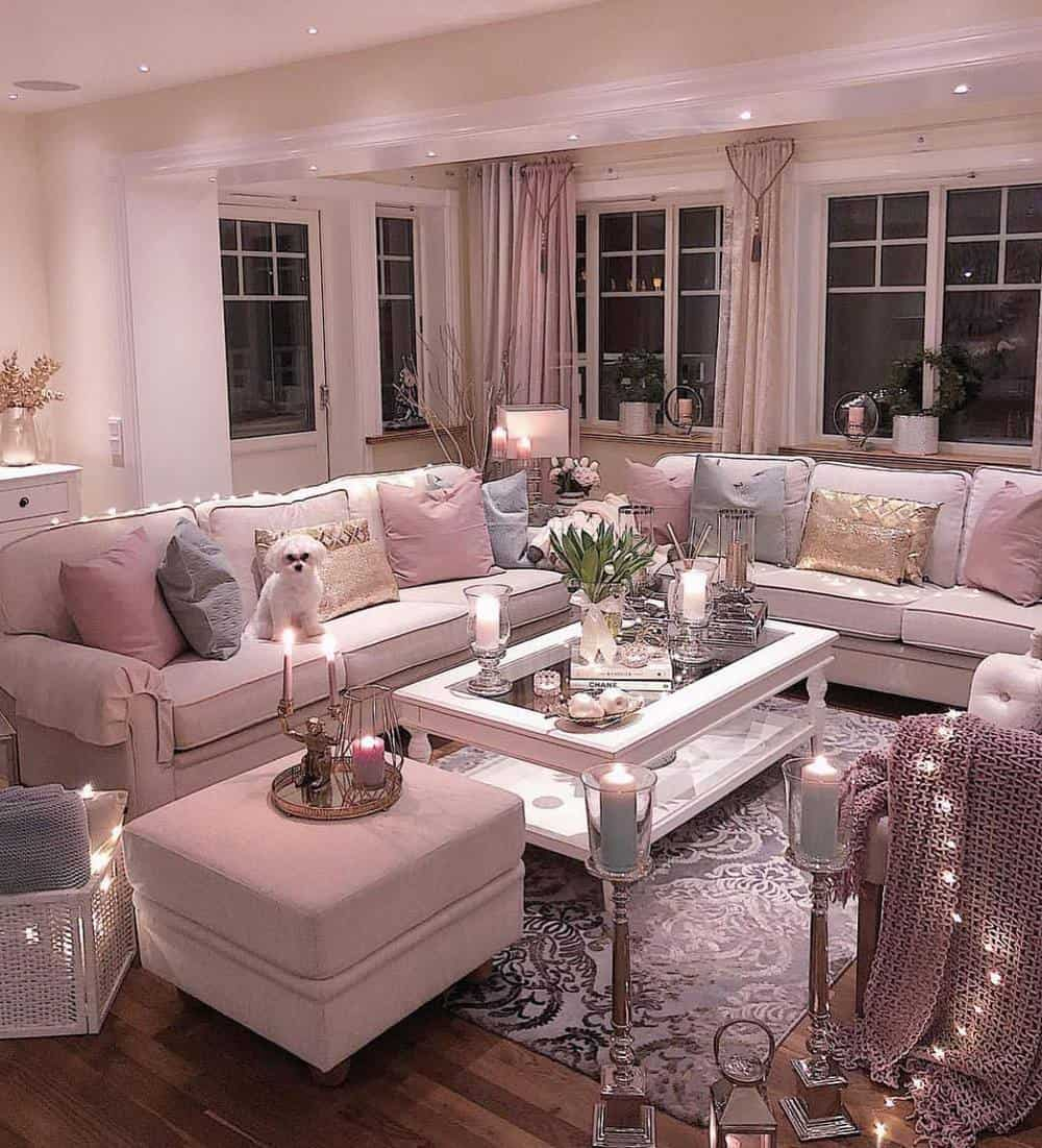 Decorate Your Living Room With These Inspiring Wall Ideas - Shabby Chic Look