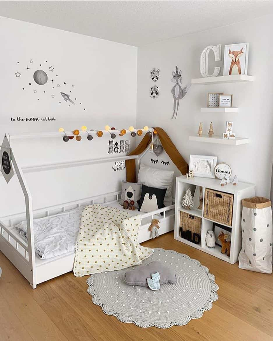 65 Amazing Small Bedroom Ideas to Create Space - Baby Room Decorating for Small Space