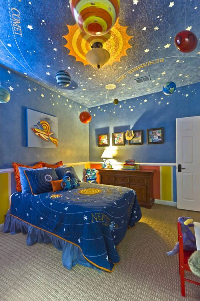 Space Themed Bedroom - Galaxy Themed bedroom for boys